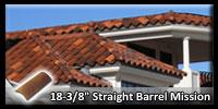 Straight Barrel Mission Roofing Tile example